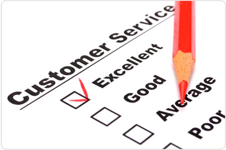 satisfaction survey or delivery verification