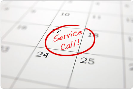 service calls and reminders